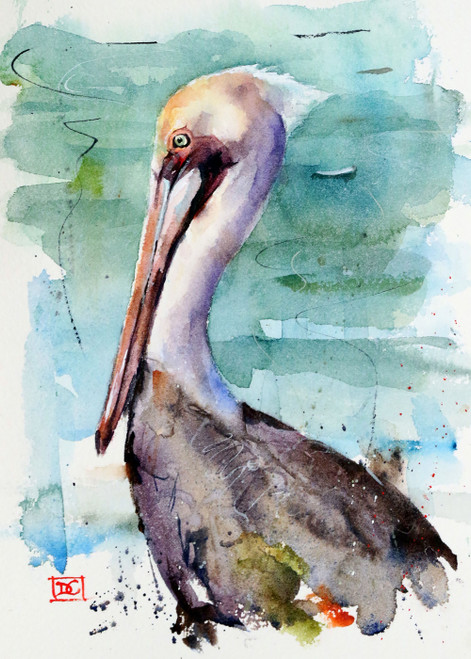 """PELICAN"" 5 x 7"" greeting cards. Blank inside, white envelope included. Individually packaged in protective clear flap-sealed bag. Quantity discounts."