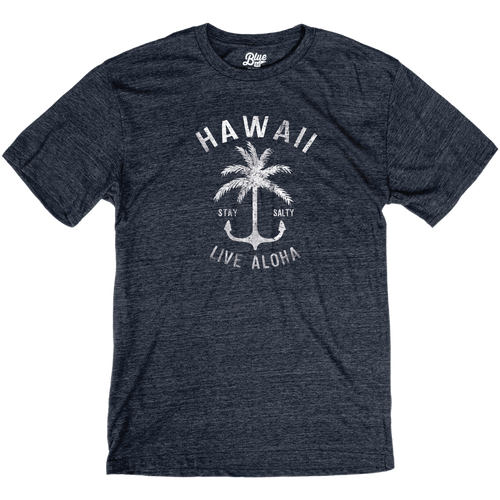Palm Anchor Triblend Tee - Navy