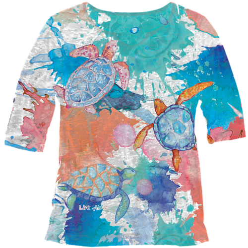 Sublimation 3/4 sleeve front of shirt