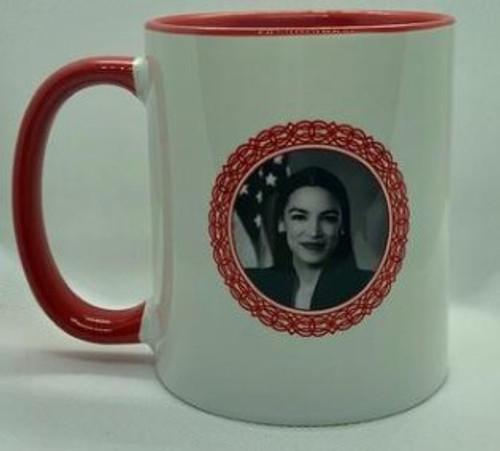 POWER MUG, ALEXANDRIA OCASIO-CORTEZ, Iamtra - 16 oz ceramic cup