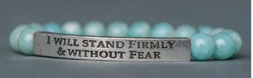 "BRACELET, Amazonite Stone. ""I Will Stand Firmly and Without Fear"", Iamtra"