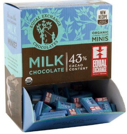 MILK CHOCOLATE MINIS, ORGANIC, Equal Exchange, .16 oz each