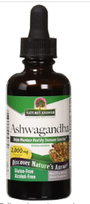 ASHWAGANDHA, A/F, Nature's Answer 2 fl oz