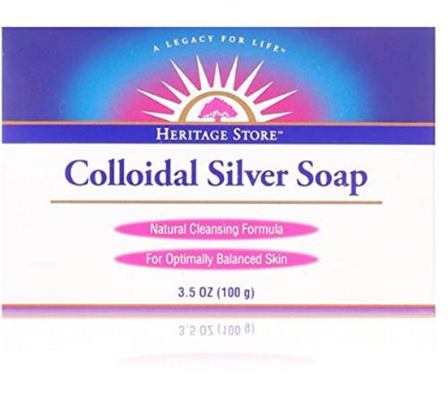 COLLOIDAL SILVER SOAP. 3.5 oz, Heritage