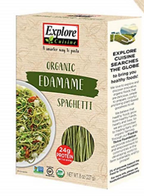 PASTA EDAMAME SPAGHETTI, Organic, Explore Cuisine, 8 OZ