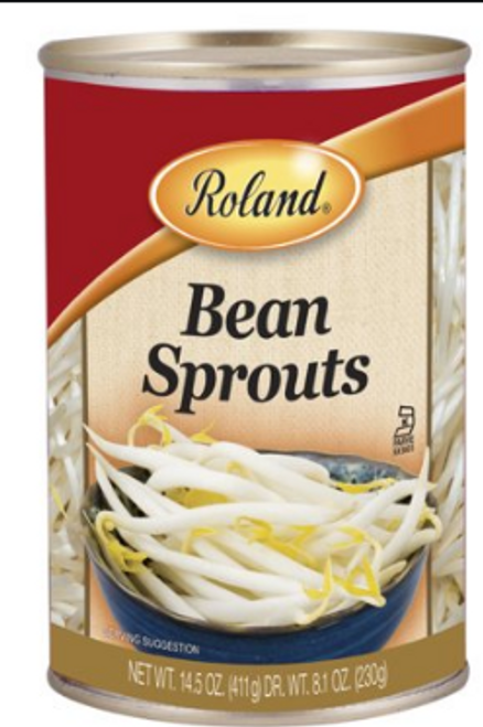 BEAN SPROUTS IN WATER, Roland, 14.5 oz
