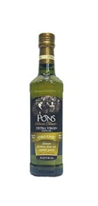 OLIVE OIL, EXTRA VIRGIN , Organic , PONS,   17 OZ