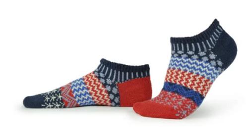 SOCKS, ANKLE SOCKS, MEDIUM STARS & STRIPES, Solmate Socks  1 pair