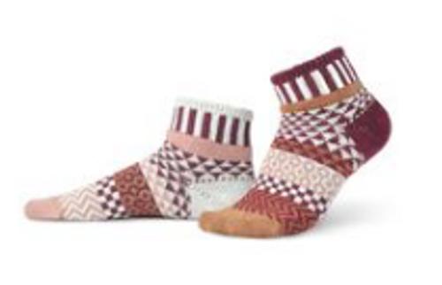 SOCKS, QUARTER SOCKS, MEDIUM AMARANTH, Solmate Socks 1 pair
