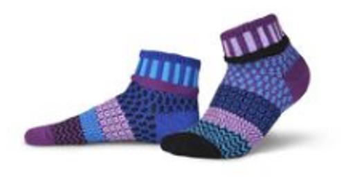 SOCKS, CREW SOCKS, LARGE DALIA, Solmate Socks, 1 pair