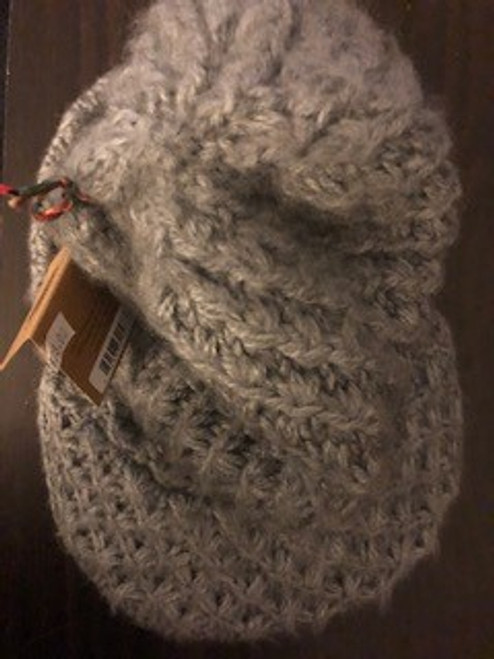 HAT, KNIT with VISOR-Grey
