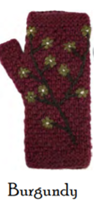 ARMWARMERS, Embroidered-Burgundy