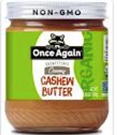 CASHEW BUTTER, *DEAL* Creamy Organic, Once Again - 12oz glass jar