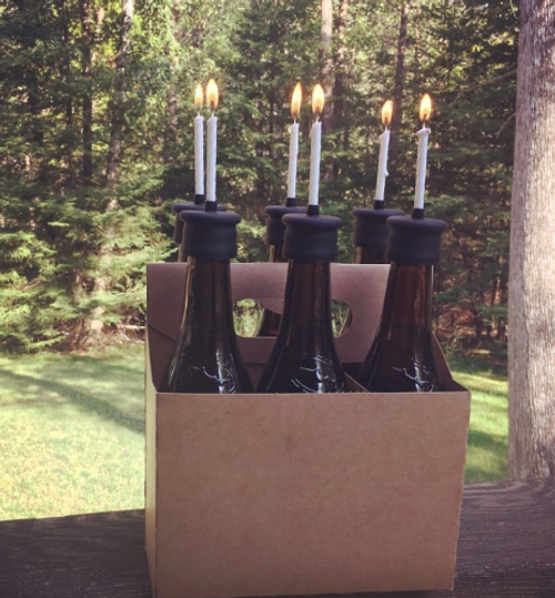Candle holders, BOTTLE TOP CANDLE, Skumps - 6-pack