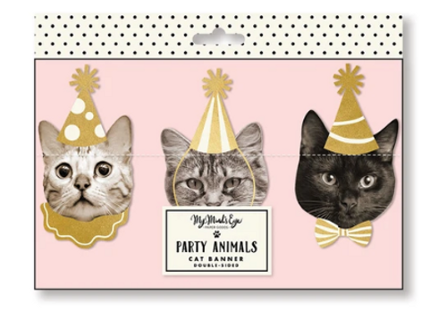 BANNER, Party Animals - Cat