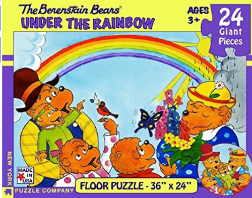 PUZZLE, Under the Rainbow, NY Puzzle Co., 24 giant pieces