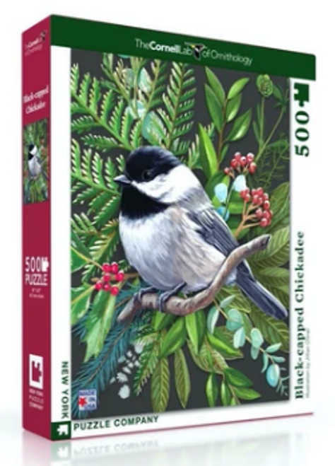 PUZZLE, Black-capped Chickadee, NY Puzzle Co., 500 piece