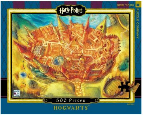 PUZZLE, Hogwart's, NY Puzzle Co., 500 piece