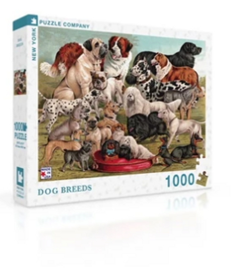 PUZZLE, Dog Breeds, NY Puzzle Co., 1000 piece