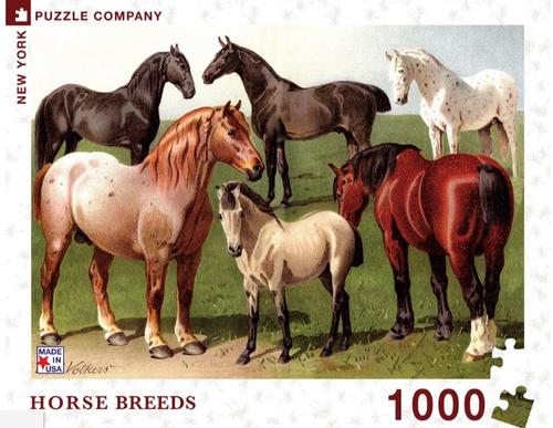 PUZZLE, Horse Breeds, NY Puzzle Co., 1000 piece