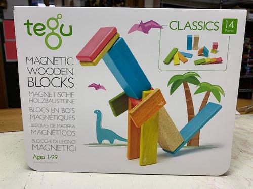 Magnetic wooden Blocks - CLASSICS TINTS, Tegu  - 14 PIECES