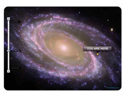 POSTCARD, You Are Here-Galaxy View, Copernicus, each