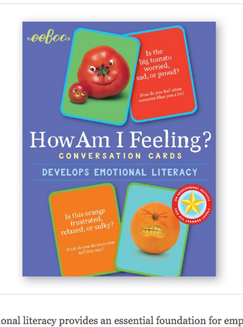 Conversation Cards, HOW AM I FEELING?, Eeboo