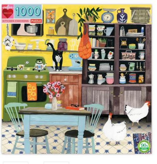 PUZZLE, Kitchen Chickens, eeBoo - 1000 pieces