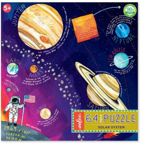 PUZZLE, Solar System, eeboo, 64 pieces