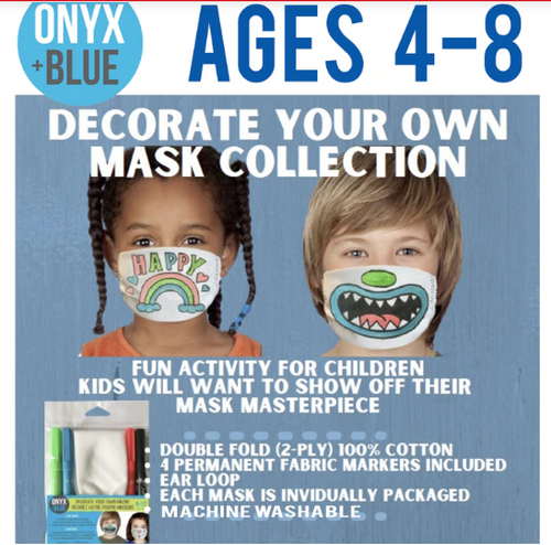 *SPECIAL* FACE MASK, Decorate Your Own, Child 4-8 size