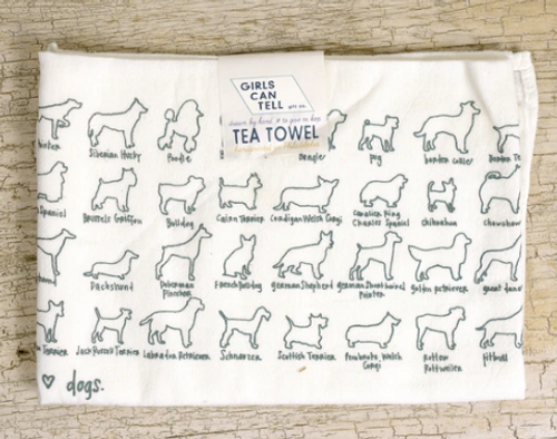TEA TOWEL, Dogs- each