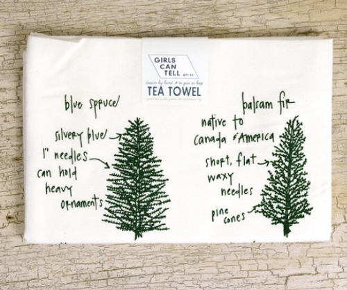 TEA TOWEL, Conifers - each