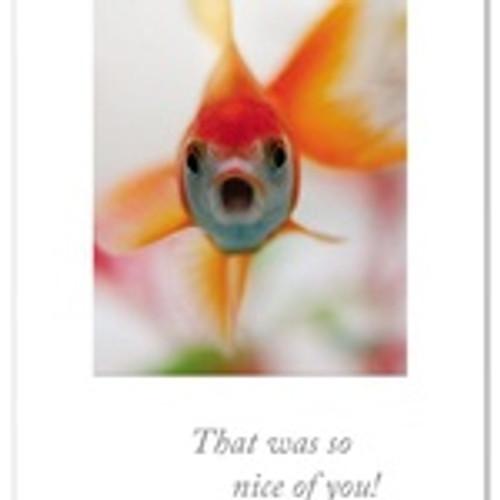 card, Thank you, gobsmacked goldfish
