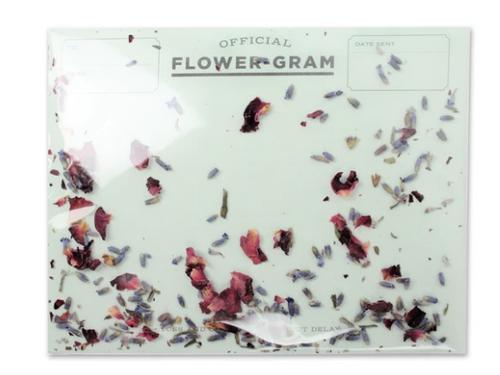 CARD, FLOWER-GRAM, LAVENDER - ROSE, Inklings - 1 card