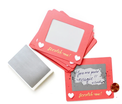 Gift Cards, DIY Scratch-off Etch-a-sketch notes, Inklings - Bag of 24