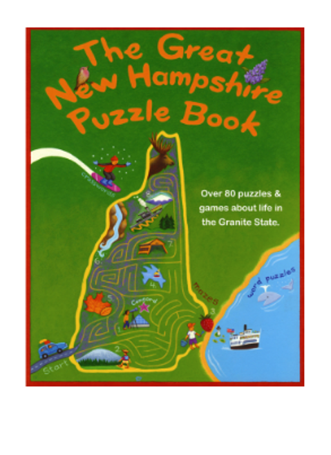 BOOK, GREAT NEW HAMPSHIRE PUZZLE BOOK, Midrun Press - 96 Pages