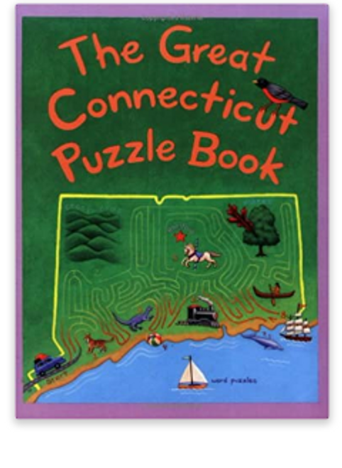 BOOK, GREAT CONNECTICUT PUZZLE BOOK, Midrun Press - 92 Pages