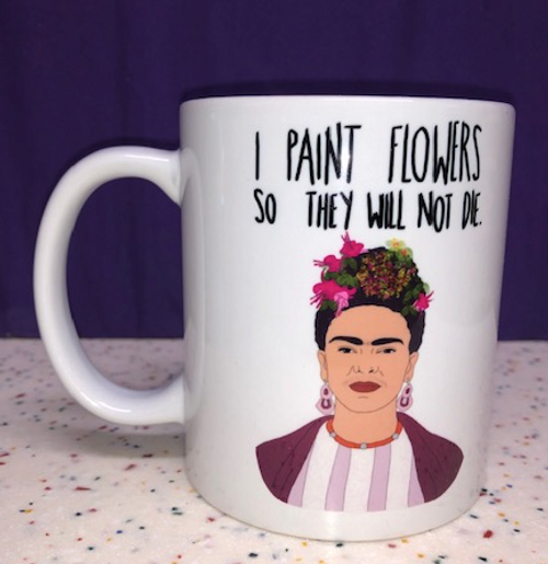 MUG, Frida Khalo- Paint Flowers