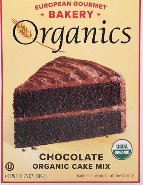 *SALE* CAKE MIX, CHOCOLATE ORGANIC, European Gourmet Bakery - 15.25 oz
