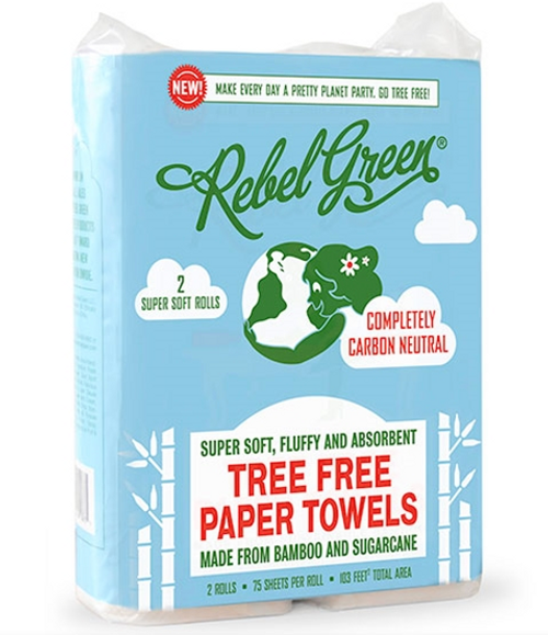PAPER TOWELS, Rebel Green TREE-FREE - 2 Rolls/115 sheets
