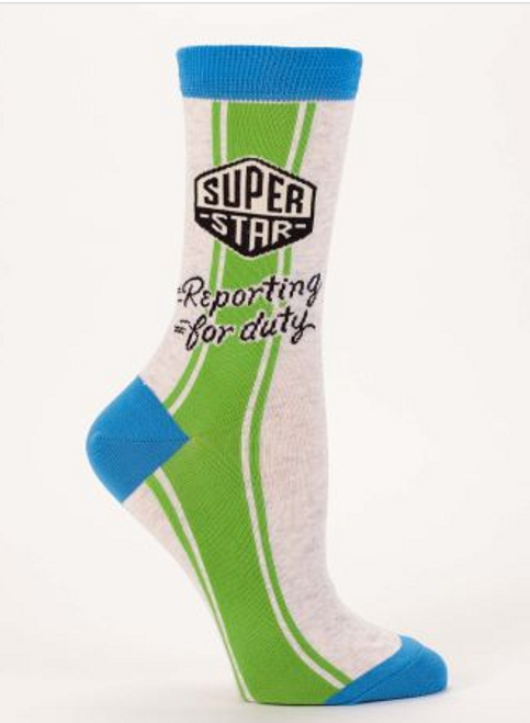 CREW SOCKS, Women's SUPER STAR, Size 5-10