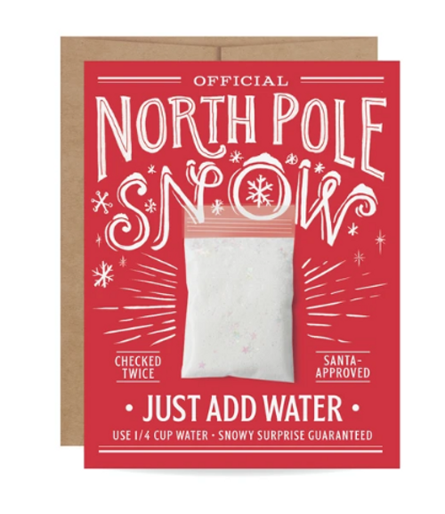 CARD, North Pole Snow, Inklings