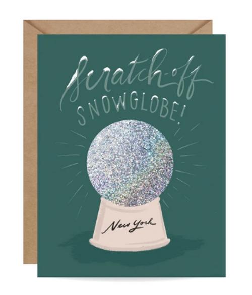 CARD, Scratch-off Snowglobe - New York, Inklings