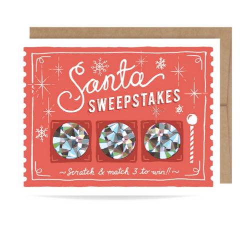 CARD, Scratch-off, Santa Sweepstakes, Inklings