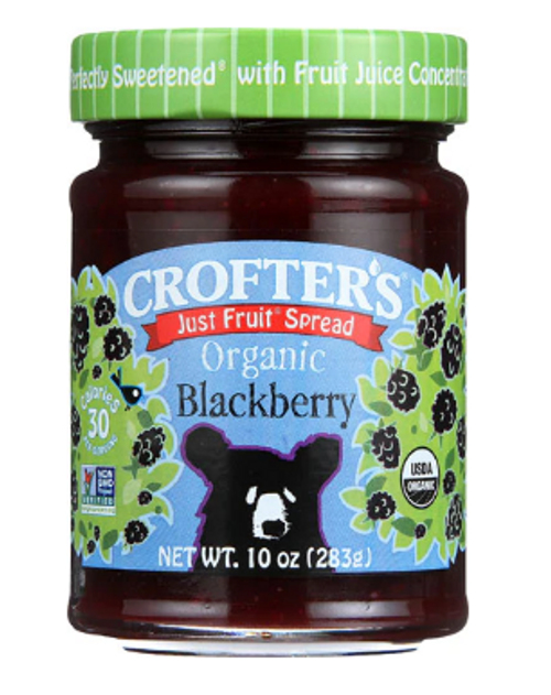 JAM, BLACKBERRY, Just Fruit Organic Crofters - 10 fl oz
