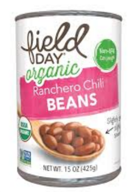 BEANS, RANCHERO CHILI, Organic, Field Day, 15 oz