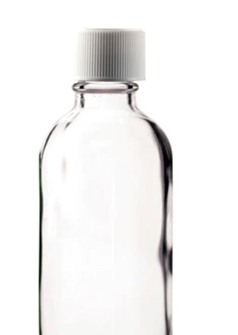 BOTTLE, 4 oz ROUND with WHITE, PLASTIC cap