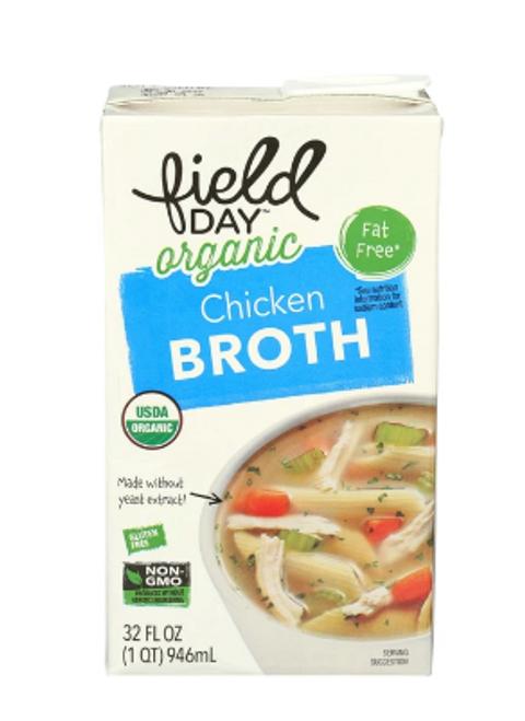 CHICKEN BROTH, Organic, Field Day, 32 fl oz