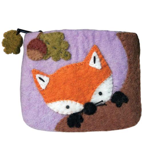 COIN PURSE: Felt Baby Fox, Tibet Collection - Each