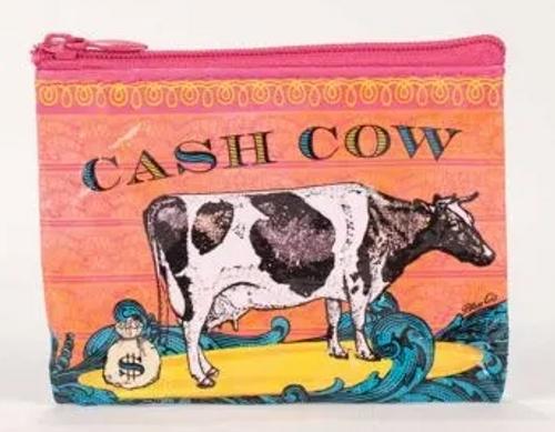COIN PURSE, CASH COW, Blue Q - Each